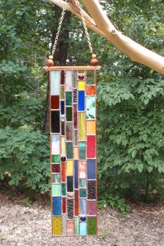 Hanging Stained Glass Suncatcher by WizardStainedGlass on Etsy