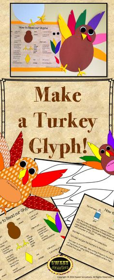 Gobble Gobble! It's Turkey time! If your class is getting into the Thanksgiving vibe then this product is for you! Includes templates and directions to make cute Thanksgiving turkeys. Either run on card stock for a template to trace around, or run on different colored construction paper.