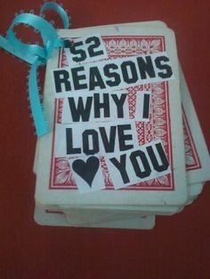 52 Reasons Why I Love You ∙ Creation by Miranda W. on Cut Out + Keep