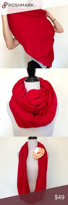 New American Apparel Red Cotton Infinity Scarf New American Apparel Red Knit Cotton Infinity Scarf Circle Head Wrap Hijab Warm  American Apparel's classic versatile Circle/Infinity Scarf.  New with tags!  Can be used as an infinity scarf, head scarf, hijab, or shawl!  Medium-Heavy weight. Fabric content not listed.  Great for Burning Man, festivals, edm events/edc, or the perfect pairing to your fall and spring jackets!  Please check out my Trixy Xchange Store for more scarves and hand made…