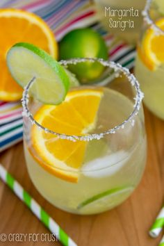 Margarita Sangria - the perfect blend of a margarita and a bottle of wine!