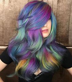 Our Hair Bestie TeraBrite got a Spring transformation! spring Opal hair color!