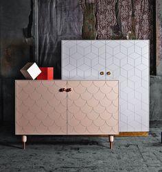 BOOKMARKED Meuble enfilade Ikea relooké grâce à des pieds et portes de chez Superfront (société Suédoise)