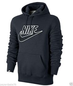 MEN'S NIKE HOODIE SWEATSHIRT HOODED SIZE LARGE KANGAROO POCKET MEDIA NEW KO NWT #Nike #SweatshirtCrew