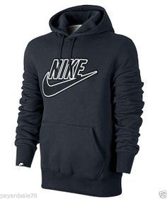 MEN'S NIKE HOODIE SWEATSHIRT HOODED SIZE LARGE KANGAROO POCKET MEDIA NEW KO NWT #Nike #SweatshirtCrew