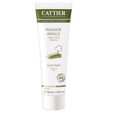 Cattier - Masque Argile Verte – Menthe poivrée - Birchbox