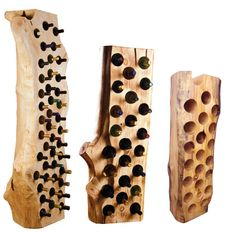Cool, rustic wine racks!!