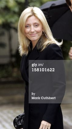 Crown Princess Marie-Chantal Of Greece Attends A Memorial Service For Lord Lichfield At Wellington Barracks, London. Get premium, high resolution news photos at Getty Images Marie Chantal Of Greece, Dark Colors, Colours, Cuthbert, Blonde Color, March, Lord, Crown, Memories