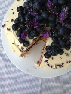 katie's kitchen journal: Lavender Cake with a Blueberry Jam and White Chocolate Frosting