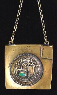 patinated bronze pendant - 1960's - 70's by Jorma Laine, Finland - Back to the future Bronze Age - interesting blog
