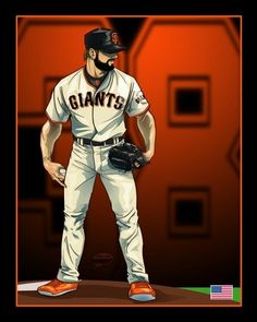 Brian Wilson - SF Giants and his orange cleats Brian Wilson - SF Giants Where Have You Gone, Brian Wilson, My Giants, G Man, Team Player, San Francisco Giants, Baseball, Boys, Sports