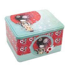 Boite de métal basse - Geisha /  Low Tin box -Geisha * www.kettodesign.com