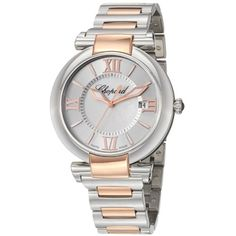 Chopard Womens 3885316002 Imperiale Two Tone Silver Dial Watch >>> Click on the image for additional details. (This is an affiliate link) #ChopardWatch