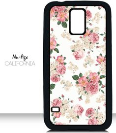 Cell Phone Case Classic Floral Pattern Samsung Galaxy Phone Case Flower Style Cute Girly Phone Case Pink Color Flowers New Vintage Look Samsung Galaxy S5 Phone, Galaxy S5 Case, Samsung Cases, Girly Phone Cases, Cell Phone Covers, Diy Phone Case, Floral, Classic, Pattern