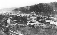 The Oregon Trail: Oregon City 1857.  Just a few years after JKB's arrival to the same region (Bristow's claim was handled through the southern office in Rosendale however).