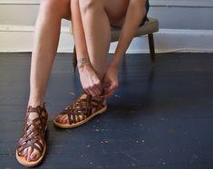 Handmade Leather Sandals Gladiator Style Classic Unisex