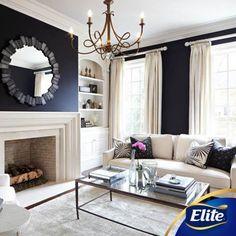 Si lo que quieres es pintar las paredes de un color oscuro, opta por las cortinas claras ya que darán luz, si está pintada en tonos claros, opta por las cortinas oscuras.  #ConsejosElite