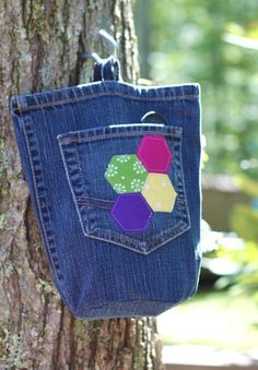 Clothespin Bag from an Old Pair of Jeans | Flickr - Photo Sharing!