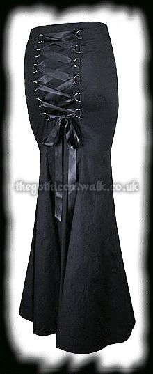 Gothic Clothing Black Fishtail Corset Skirt, this will make your butt look amazing