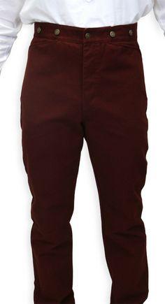 Historical Emporium Mens High Waist Bailey Cotton Striped Dress Trousers 003922