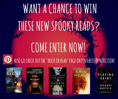 Enter now for a chance to win these new SPOOKY reads!