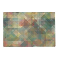 Chic Abstract Retro Triangles Mosaic Pattern Placemat - retro kitchen gifts vintage custom diy cyo personalize