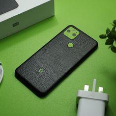 Google Pixel 5 - Black Leather and Textured Matt Green Skin Back Camera, Brushed Metal, New Phones, Carbon Fiber, Bubbles, Black Leather, Alcohol, Make It Yourself, Google