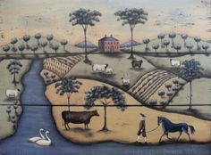 Hey, I found this really awesome Etsy listing at http://www.etsy.com/listing/48943073/pastoral-landscape-folk-art-print-the