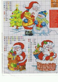 Such cute cross stitch Santas! Its time to get started! Santa Cross Stitch, Cross Stitch Bookmarks, Cute Cross Stitch, Counted Cross Stitch Patterns, Cross Stitch Charts, Cross Stitch Designs, Cross Stitch Embroidery, Cross Stitch Christmas Ornaments, Christmas Cross