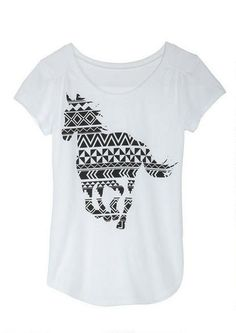Tribal Horse Tee - Graphic Tees - Tops - Clothing - mobile - dELiA*s