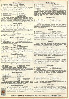 GOLD MEDAL FLOUR COOK BOOK : Washburn-Crosby Co : Free Download, Borrow, and Streaming : Internet Archive Old Recipes, Vintage Recipes, Bailey Truffles, Brown Sauce, Minced Onion, Indian Curry, Seasoning Mixes, Food Labels, Recipe Collection