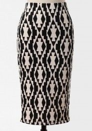scottsdale printed pencil skirt