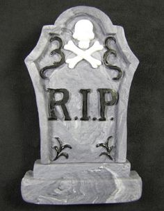 """Tombstone By Jennifer Dontz. Great for Halloween or """"Over The Hill"""" cakes!"""
