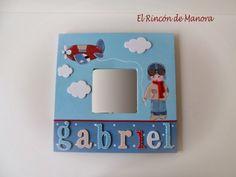 Photo Frames For Kids, Picture Frames, Marco Diy, Mario Martin, 3d Frames, Decoupage, Kids Decor, Home Decor, Malm