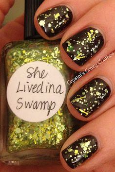 I love this polish. http://crystalscrazycombos.blogspot.com/2012/02/lynnderella-she-lived-in-swamp.html