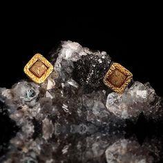 Eva Stone Jewelry with raw diamonds at Alara Jewelry in Bozeman, MT