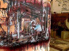 Street Art. Grafitti y Stencil de C215.