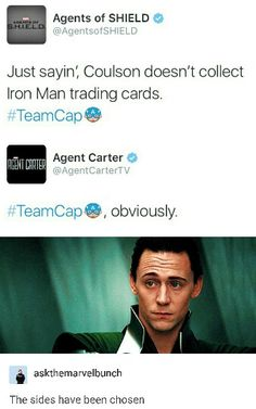aw yeah both on our team. join team cap, we have clark greg, hayleyt atwell and sad feelings