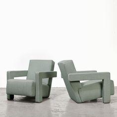 For sale: Gerrit Rietveld Pair of Utrecht Lounge Chairs for Cassina, Pool Lounge Chairs, Lounge Chair Design, Outdoor Chairs, Outdoor Lounge, Utrecht, Mid Century Living Room, Inexpensive Furniture, Living Room Chairs, Furniture Design
