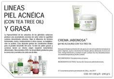 Productos de la Linea Exel para pieles Acneicas y pieles Grasas.