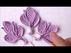 Crochet Leaf Patterns, Crochet Earrings Pattern, Crochet Leaves, Crochet Designs, Crochet Flowers, Crochet Mask, Form Crochet, Crochet Motif, Crochet Stitches