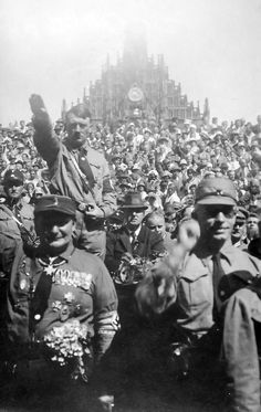 1928 Nuremberg Rally with Hitler
