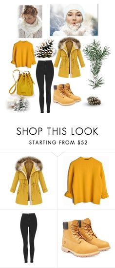 """""""Untitled #144"""" by suad-nisveta-mesic ❤ liked on Polyvore featuring beauty, Topshop and Timberland"""