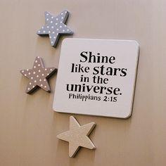'Stars' Bible Verse Fridge Magnet Set £6.99