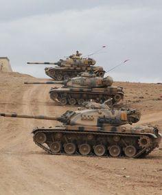 Turkish Tank in Syria Fırat Shield Operation Military Gear, Military Weapons, Army Vehicles, Armored Vehicles, Tank Wallpaper, Patton Tank, World Tanks, Tank Armor, Model Tanks