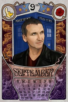 September month for the doctor who 2014 calendar with Christopher Eccleston as the doctor. You can download it for you personal use. [August]    [October] [on Tumblr]   [on...