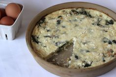 spinach onion feta crustless quiche