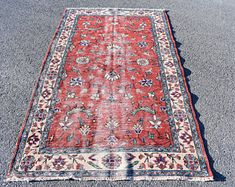 Turkish rug Oushak rug Vintage rug Turkey rug by turkishrugstar Boho Decor, Bohemian Rug, Rustic Decor, Rustic Rugs, Aztec Rug, Black Rug, Rugs In Living Room, Floor Rugs, Handmade Rugs