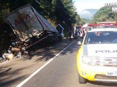 R12News: Caminhoneiro tem perna decepada em acidente