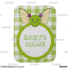 Keep your shoulder clean while burping your child thanks to Zazzle's burp cloths. Baby Shower Gifts, Baby Gifts, Baby Burp Cloths, Baby Accessories, Soft Fabrics, Your Child, Lunch Box, Dragon, Plaid